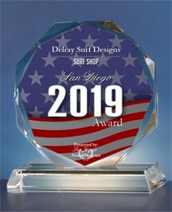 2019-San-Diego-Award, Surf Shop Category, Delray Surf Designs